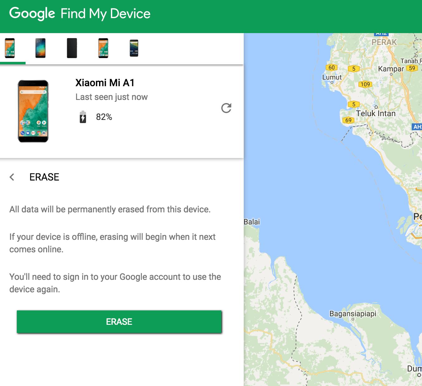 Telefon Hilang